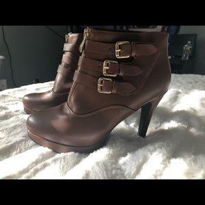 Reddish brown booties